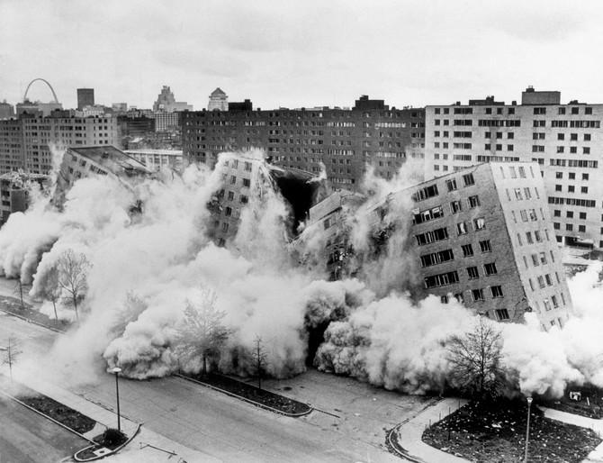 Demolition of Pruitt-Igoe Housing Project, St. Louis, 1972 (St. Louis Post-Dispatch)