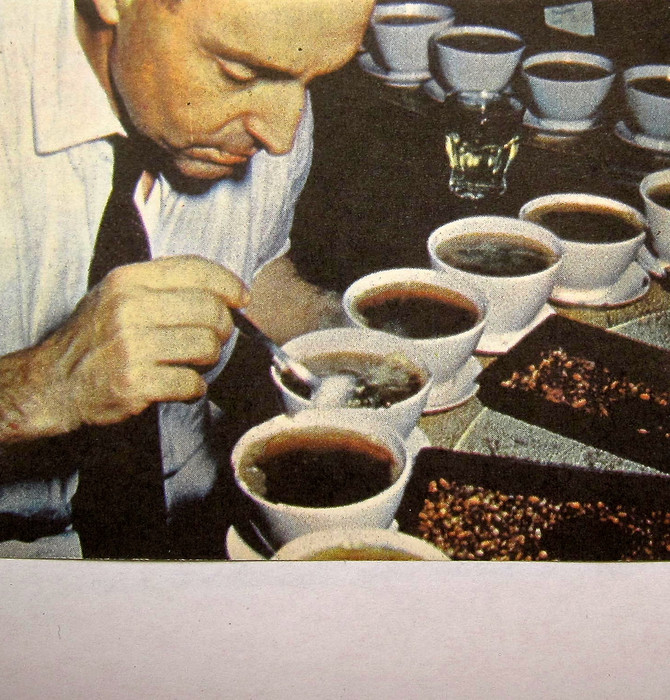 Coffee Tester, Brazil, 1960s (found photo)