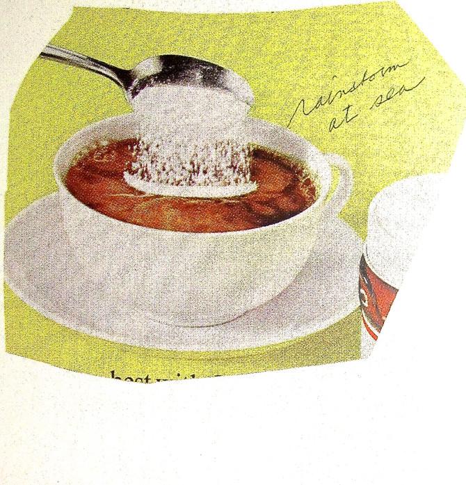 """Claes Oldenburg """"Adding Powdered Milk (Rainstorm at Sea)"""" 1966"""