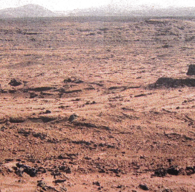 Mars Landscape View from Curiosity Rover, 2015 (NASA)