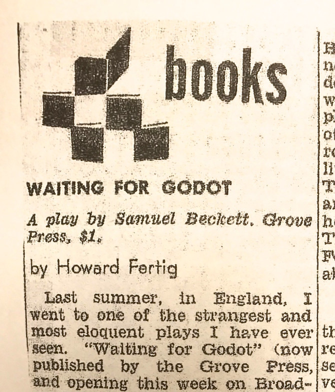"""Waiting for Godot"" review, The Village Voice, 1956"