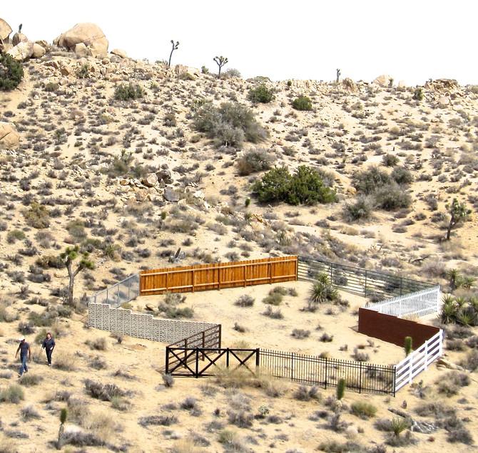 "Greg Colson ""Composite Fence"" 2010-11, Mojave Desert sculpture"
