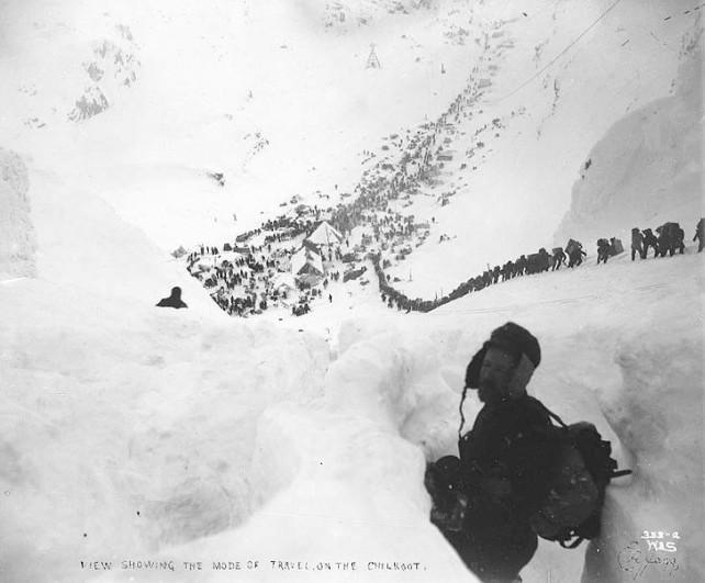 Chilkoot Pass, Klondike Gold Rush, 1898 (photo by Eric A. Hegg)