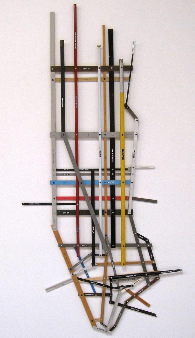 "Greg Colson ""Manhattan"" stick map, 2016"