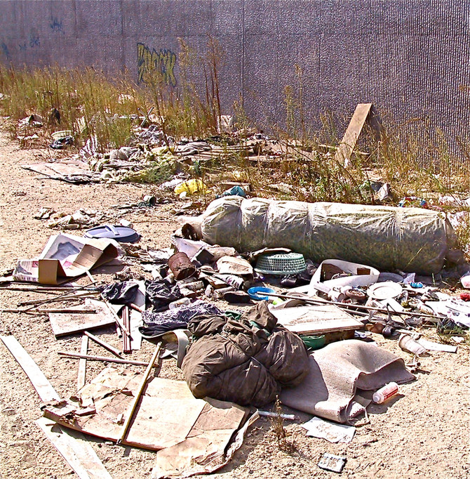 Roadside Debris, Los Angeles, 2003 (photo by Greg Colson)