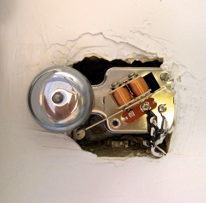 Doorbell in Sutton Place Apartment, Manhattan, 2014 (photo by Greg Colson)