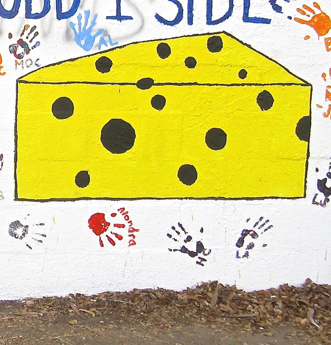 Cheese Mural, Claremont, CA., 2015 (photo by Greg Colson)