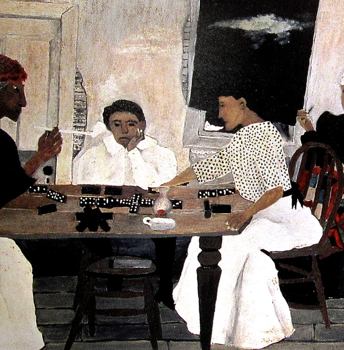 """Horace Pippin """"Domino Players"""" 1943 detail"""