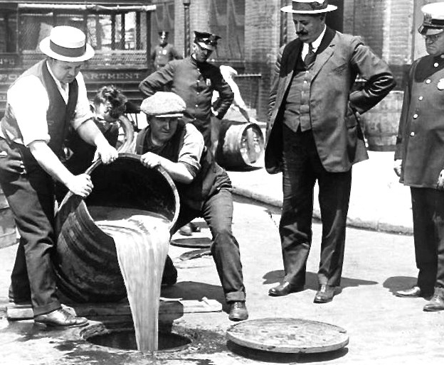 Dumping Liquor during Prohibition, New York, 1921
