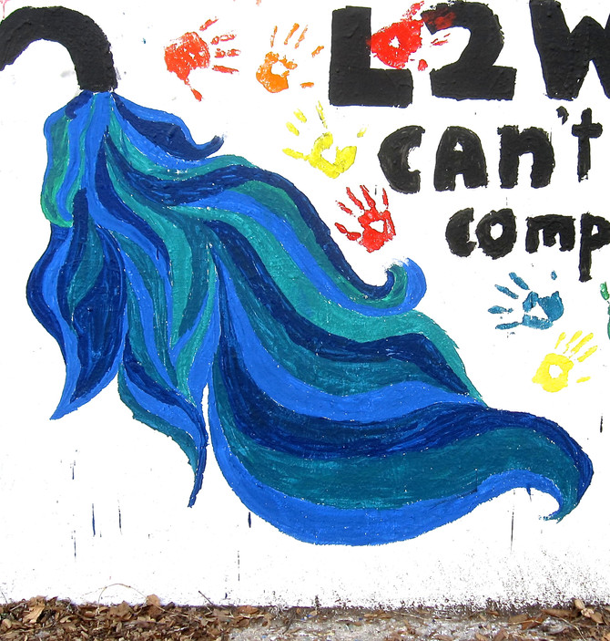 Water Faucet Mural, Claremont, California, 2015 (photo by Greg Colson)