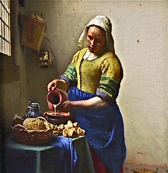 """Johannes Vermeer """"The Milkmaid"""" ca. 1658"""