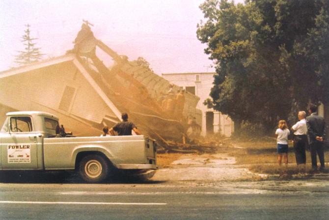 Demolition, Santa Ana, California, 1961 (photo by my father Lewis Colson)
