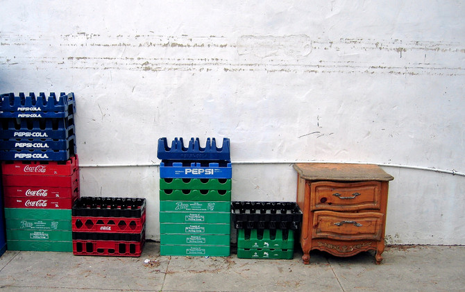 Beverage Crates, Los Angeles, 2005 (photo by Greg Colson)