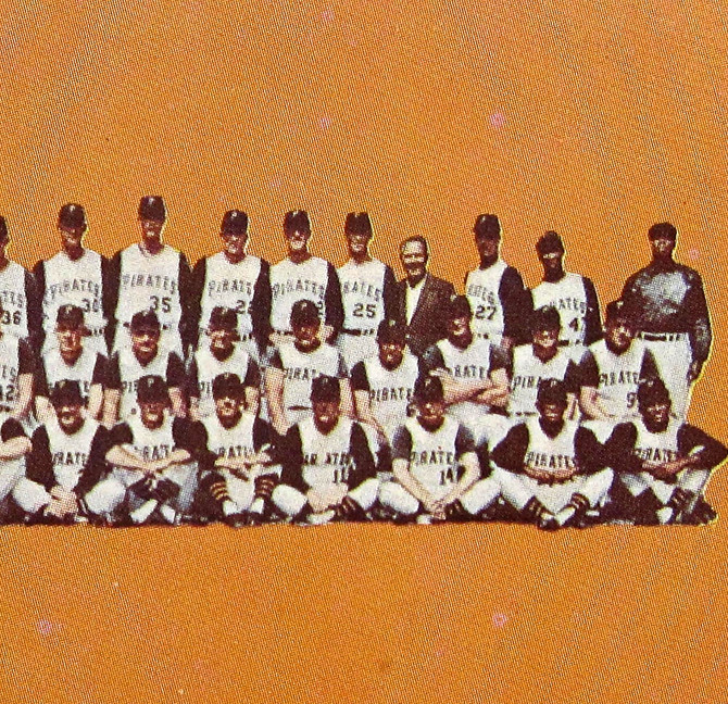 Pittsburgh Pirates Baseball Card (detail), 1966