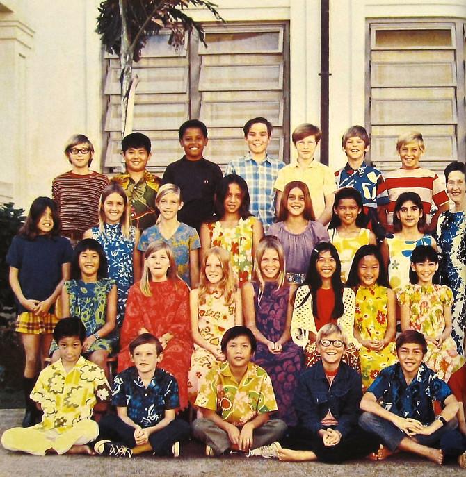 Punahou School 5th Grade Class Photo, Honolulu, Hawaii, 1971 (Obama for America)