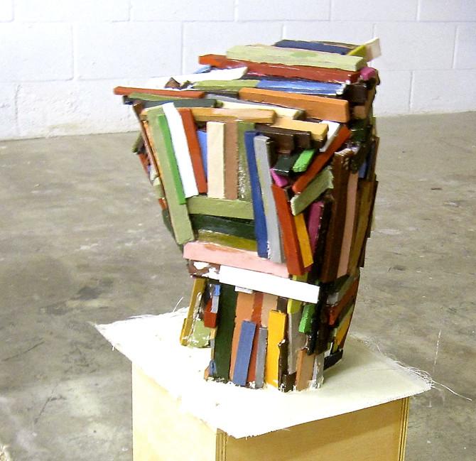 "Jeff Colson ""Blockhouse"" 2015 fiberglass, acrylic paint"