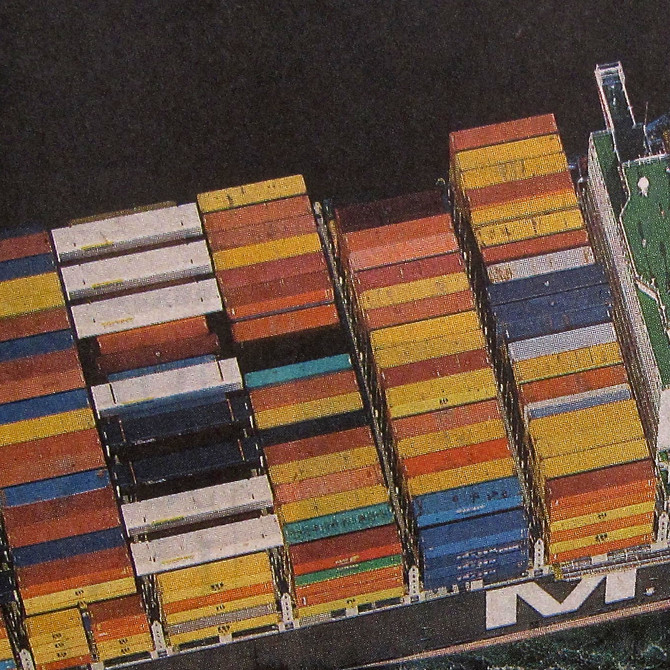 Cargo Containers, Port of Long Beach, 2012 (altered photo)