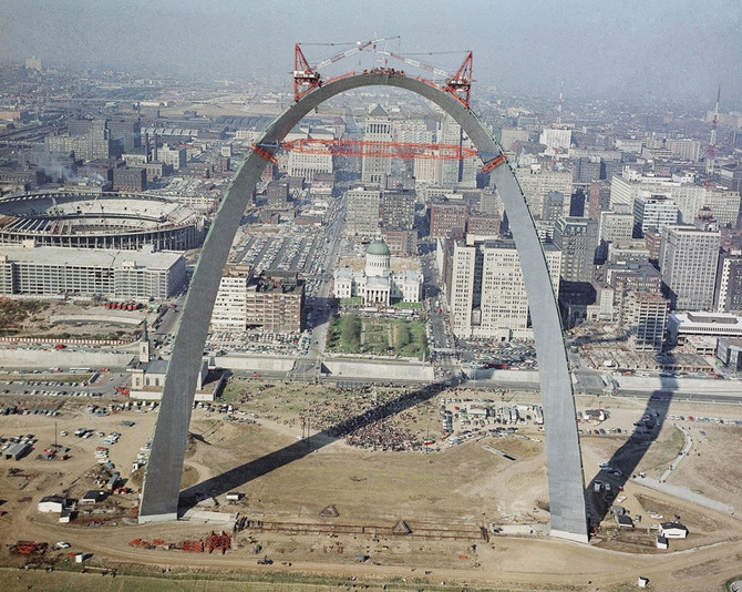 Gateway Arch Construction, St. Louis, 1965 (AP)