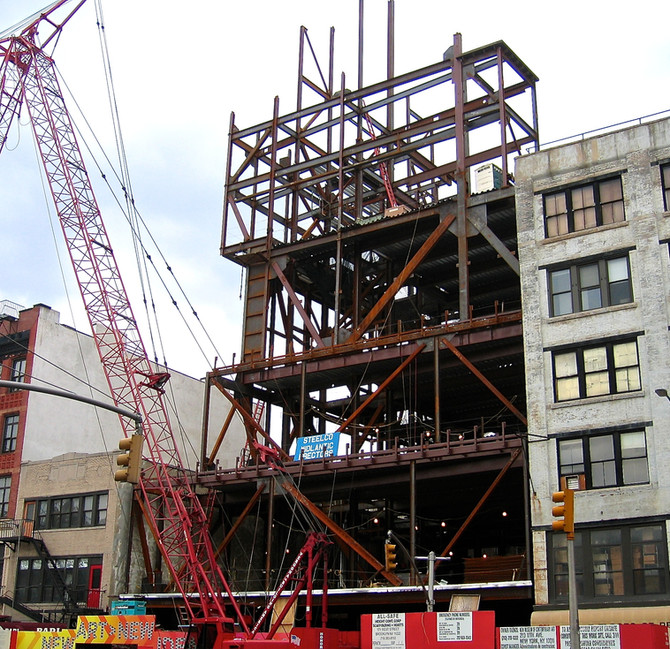 New Museum Construction, New York City, 2006 (photo by Greg Colson)