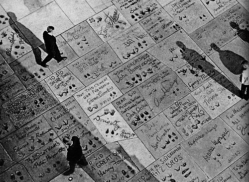 Hand and Footprints at Grauman's Chinese Theatre, Hollywood, 1962 (National Geographic)