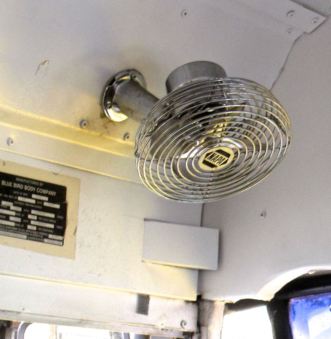 Fan in New York City Bus, 2014 (photo by Greg Colson)