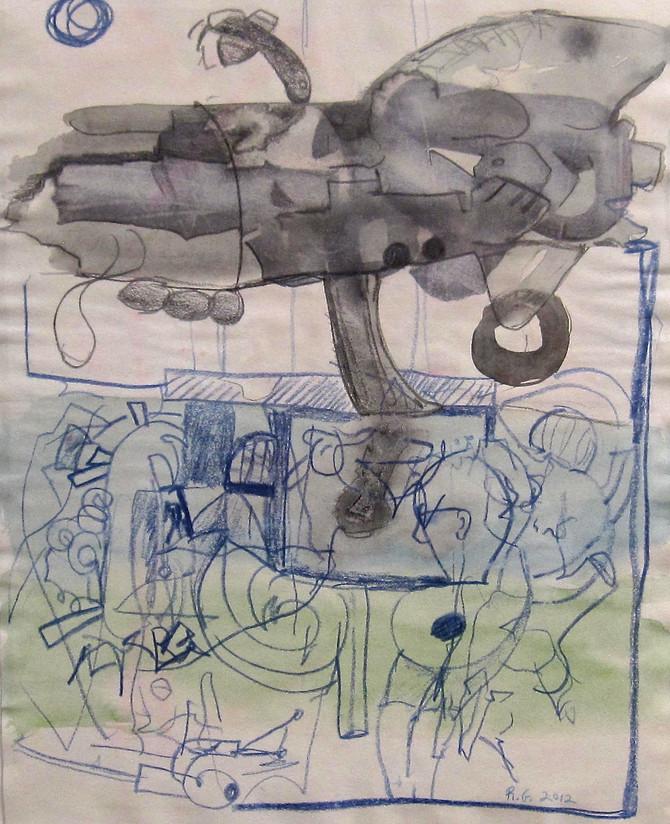 """Rives Granade """"Untitled (Airship)"""" 2012"""