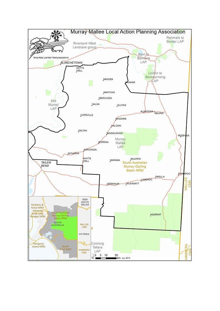 Murray Mallee LAP map, Murray Malleee LAP region, SA Murray Mallee