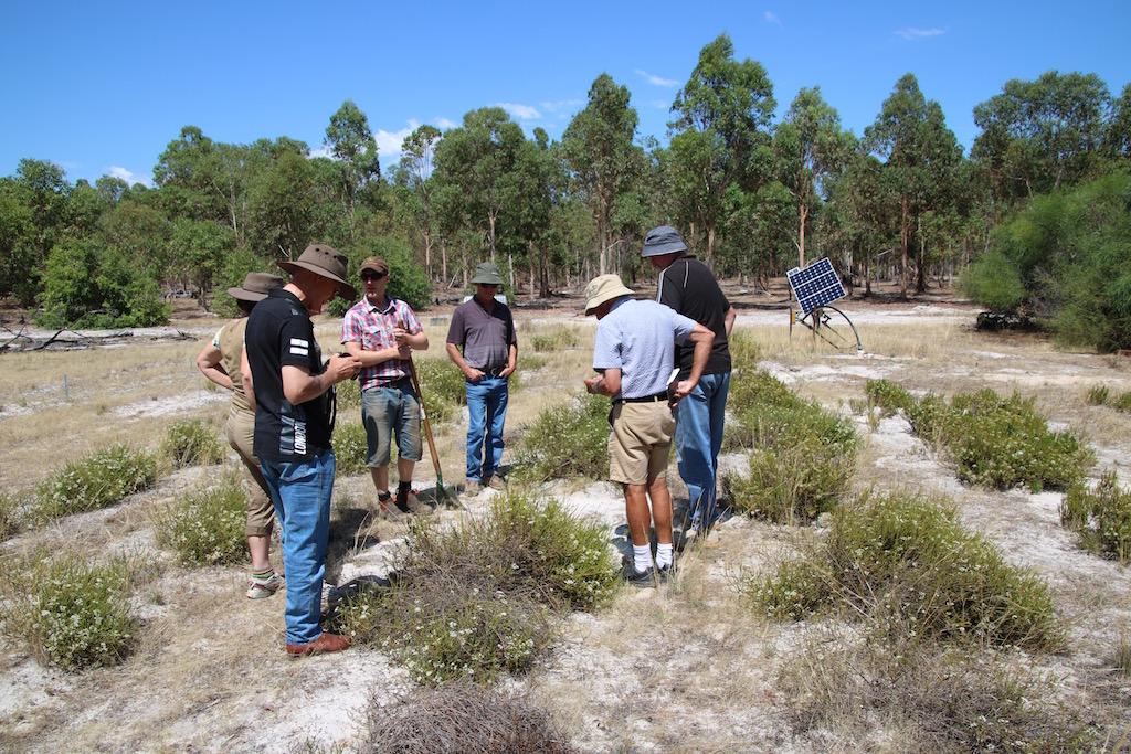 Landholders visit a native food prod