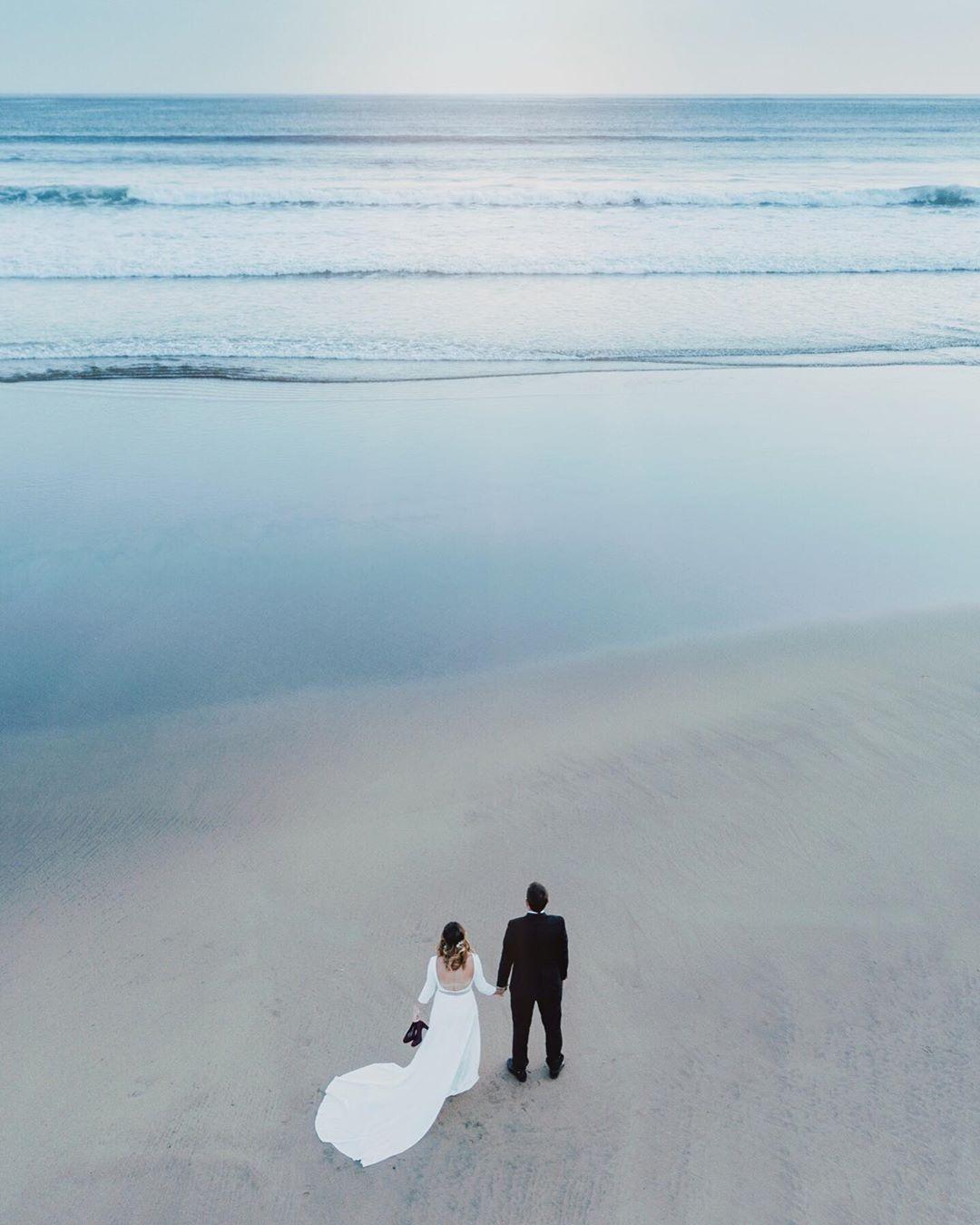 Post-boda con dron en Gipuzkoa