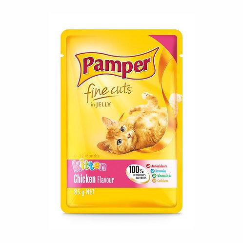 Pamper Fine Cuts in Jelly Chicken Kitten Pouch