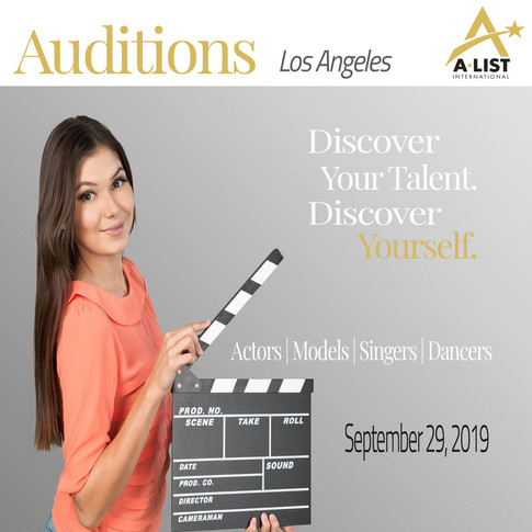 A-List International Audition Graphic