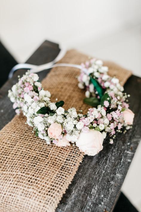 Blumenkranz-vintage-Hochzeit