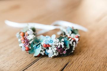 Blumenkranz-Boho-Hochzeit-Blumen-Armband-wildblumen