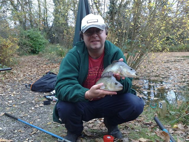 colin winter with a brace of fishery per