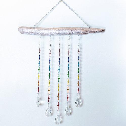 Chakra Crystal Driftwood Suncatcher