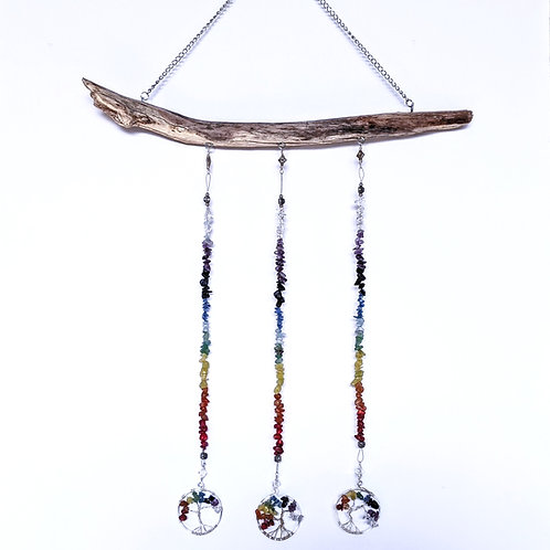 Chakra Tree of Life Driftwood Art