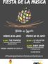 25 y 26 de junio, 'Fiesta de la música' en Pedrajas de San Esteban