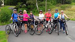 Die Damen auf einer ihrer Radtouren
