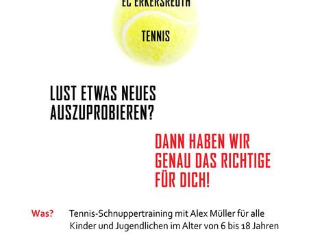 Tennis-Schnuppertage 2021 für Kinder und Jugendliche