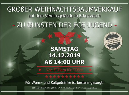 Großer Weihnachtsbaumverkauf für Mitglieder und Freunde des Vereins