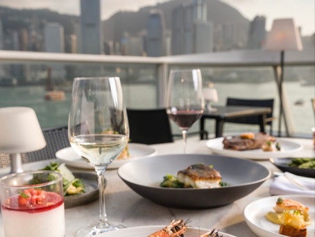 Soaking up the view from Harbourside Grill