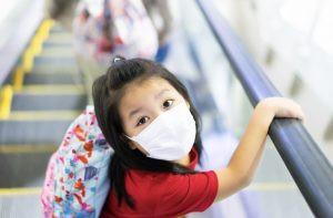 Mask wearing mandatory at Hong Kong airport.