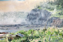 Brouillard tapissant West Bay, N-É