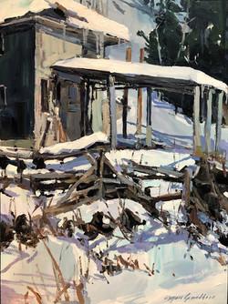 Abandonnée à l'hiver
