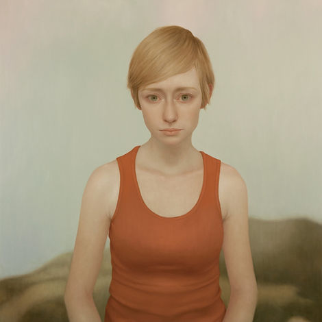 Lu Cong, Tabitha #12, oil on wood, 48 inches by 48 inches, 2011