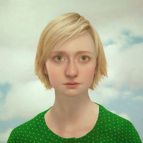 Lu Cong, Tabitha #14, oil on wood, 24 inches by 24 inches, 2013