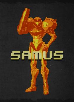 Retro Samus border letters