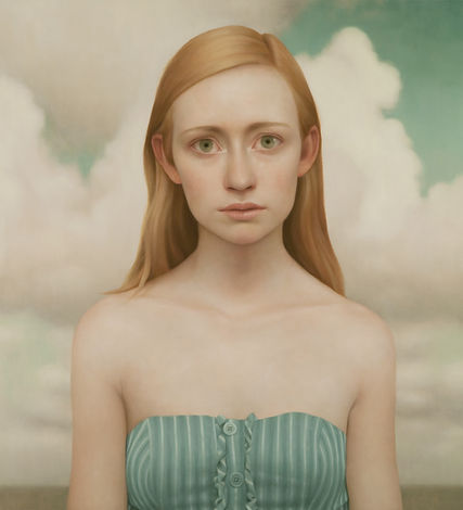 Lu Cong, Tabitha #9, oil on wood, 36 inches by 40 inches, 2011