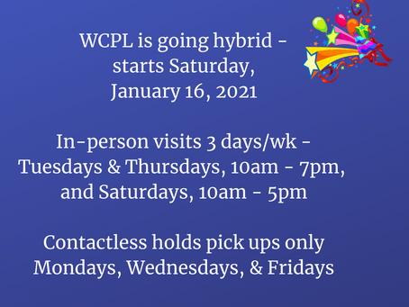 WCPL Updated Schedule, 1-15-2021