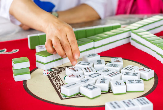 Mahjong table game on of Chinese city st